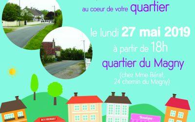 Réunion de quartier – Votre maire et vos élus à votre rencontre – 27 mai 2019, 18h, quartier du Magny