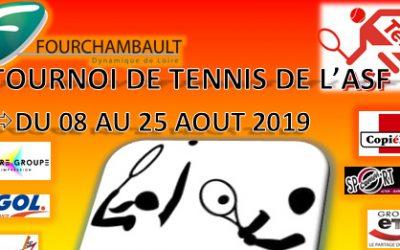Tournoi de l'ASF Tennis du 8 au 25 août 2019, au stade Robert Bacquelin de Fourchambault