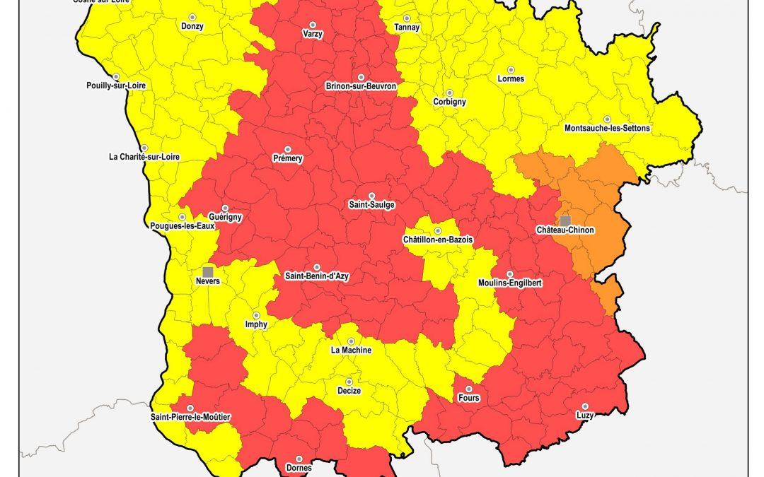 Restriction d'eau dans la Nièvre : arrêté préfectoral en vigueur au 29 octobre 2019