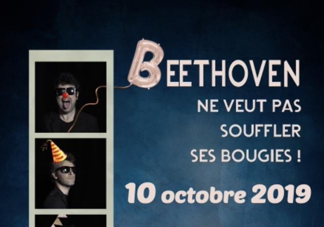 Spectacle «Beethoven ne veut pas souffler ses bougies», de et avec Jean-Daniel Laval et le Quatuor Leonis, dans le cadre du festival «Les Pinces à linge»