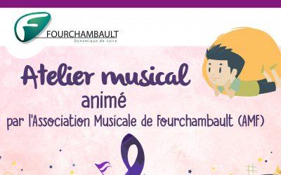 Atelier musical animé par l'Association Musicale de Fourchambault, le 21 septembre, à la médiathèque.