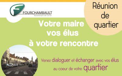 Réunion de quartier – Votre maire et vos élus à votre rencontre – 19 septembre 2019, 18h, quartier de la Fonderie (place de l'église Saint-Gabriel)