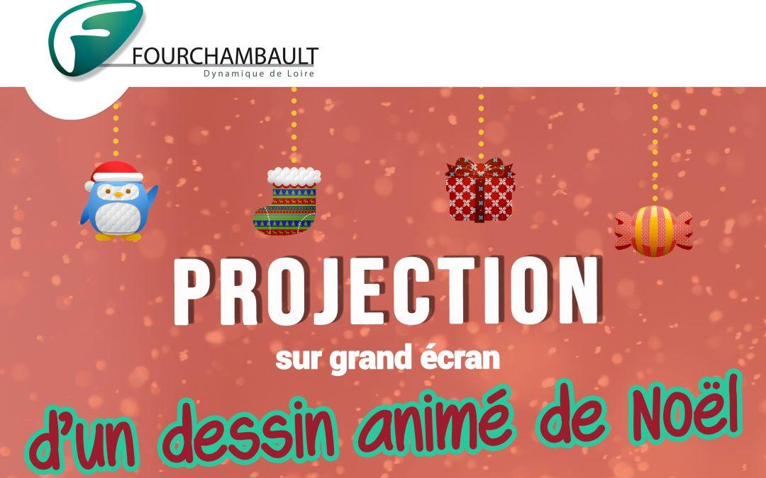 Projection sur grand écran d'un dessin animé de Noël – 11 décembre 2019 – Maison du Peuple