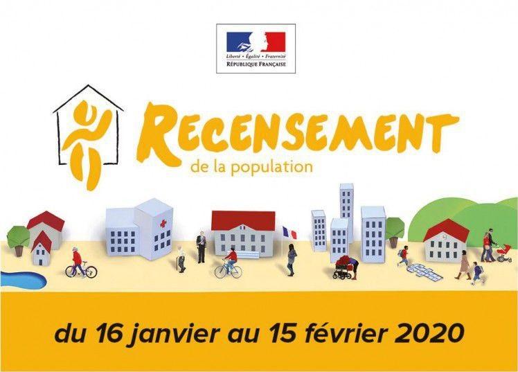 Recensement de la population, du 16 janvier au 15 février 2020