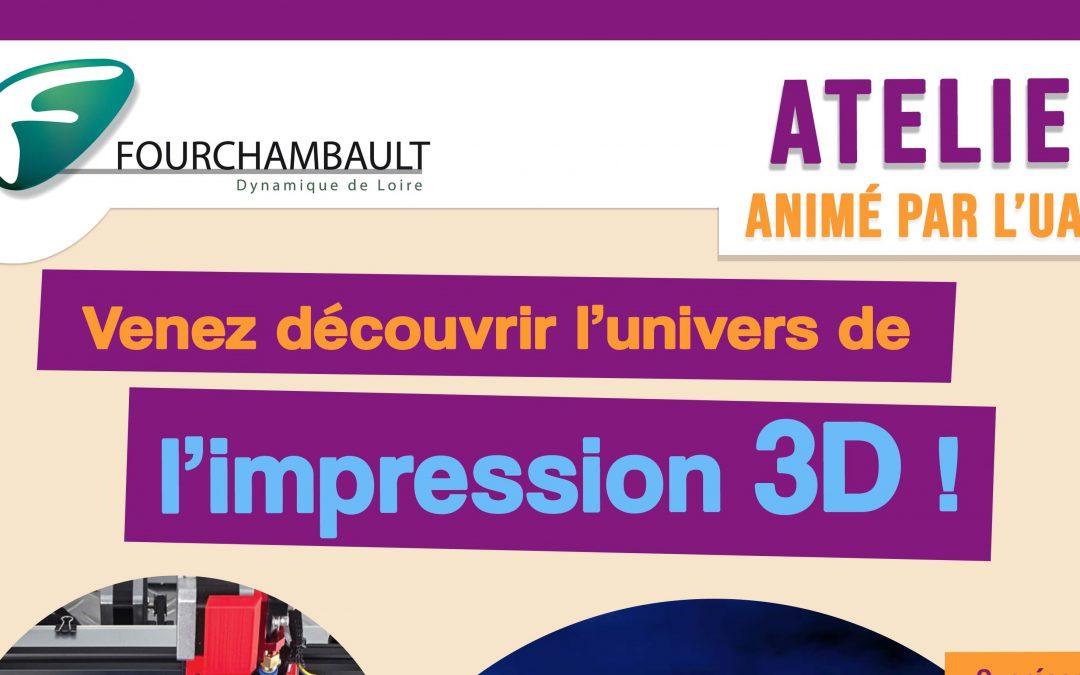 Atelier découverte de l'impression 3D – 25 janvier 2020 – médiathèque