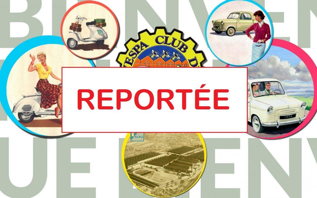 Exposition de véhicules anciens, proposée par le Vespa Club de Fourchambault, dans le cadre de la journée nationale des véhicules d'époque