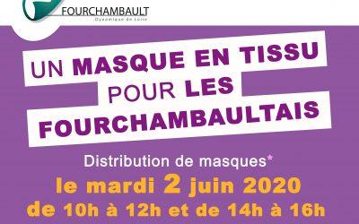 Un masque pour les Fourchambaultais, distribution le mardi 2 juin 2020 !