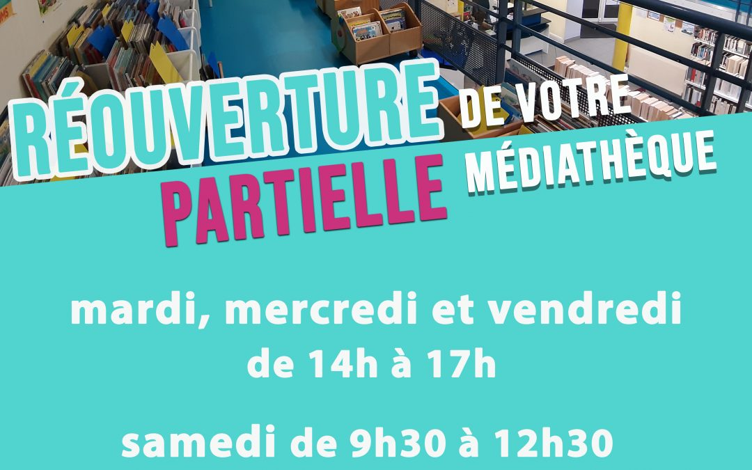 Petit rappel des jours et des horaires d'ouverture de la médiathèque de Fourchambault