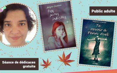 Rencontre littéraire avec l'auteure nivernaise Marjorie Levasseur, samedi 3 octobre 2020, de 10h à 12h, médiathèque de Fourchambault