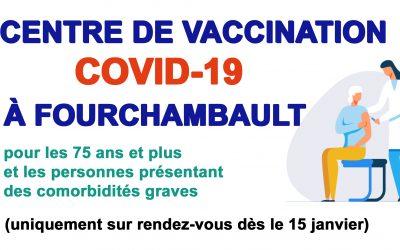 Covid- 19 : centre de vaccination, à partir du 19 janvier 2021, salle polyvalente (3, rue du 4 Septembre)