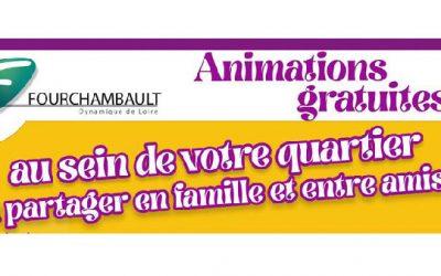 Retrouvez la médiathèque dans 6 quartiers de Fouchambault, de juin à septembre!